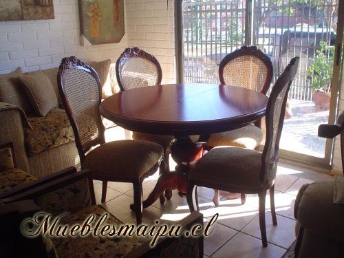 Muebles mueblesmaipu comedores for Sillas para comedor redondo